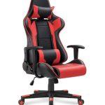 Racing Ergonomic Adjustable Chair with Headrest & Lumbar Support